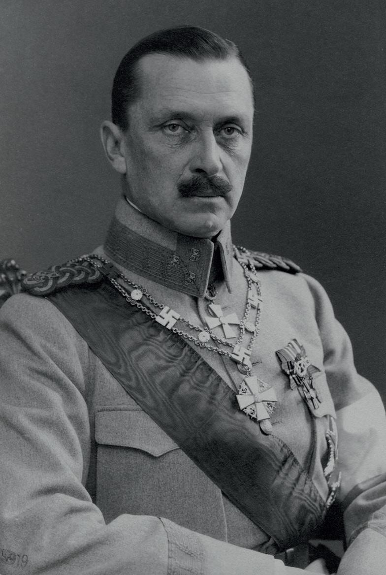 Riksföreståndare G. Mannerheim, instiftare av Finlands Vita Ros' orden.