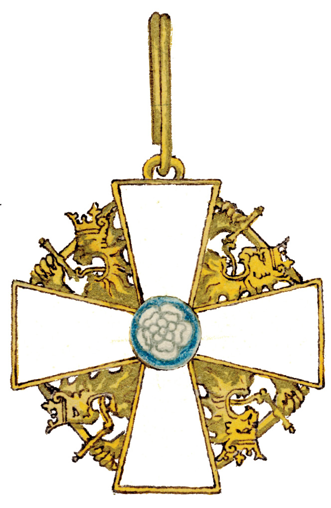 Gallen-Kallela's drawing of the Grand Cross of the Order of the White Rose of Finland.