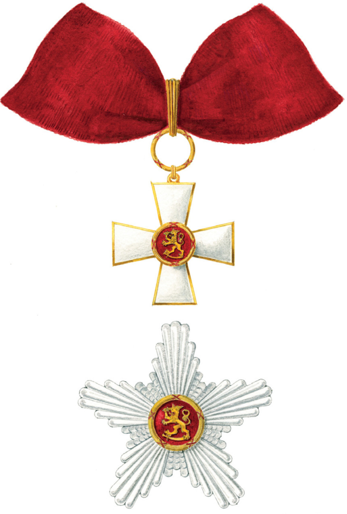 Oskar Pihl's drawing of Commander First Class of the Order of the Lion of Finland.